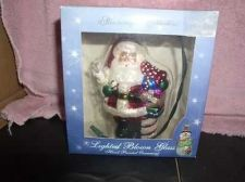 Buy Santa clause Ball blown Glass litght up Hand painted glass ball ornament