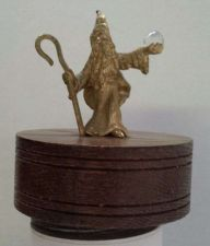 """Buy Wizard Holding """"Crystal Ball"""" Collectable (Works) Spinning Musical Wood Base"""
