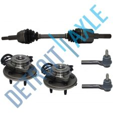 Buy 2 NEW Front Wheel Hub Assembly + 2 Outer Tie Rod + Front Driver CV Drive Axle