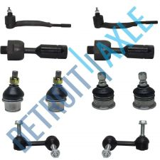 Buy 10 pc Set: Front Inner Outer Tie Rod Upper Lower Ball Joint Stabilizer Bar Link