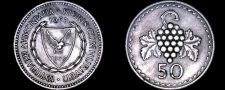Buy 1963 Cyprus 50 Mils World Coin - Grapes