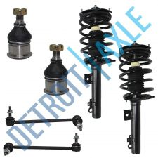 Buy 6 pc Kit - Front Ready Strut Assembly Pair and 2 Sway Bar Link + 2 Ball Joints