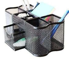 Buy Mesh Office Holder Desk Organizer Home Clutter Writing Instruments Pen Clips Cup