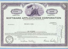 Buy New York na Stock Certificate Company: Software Applications Corporation ~79
