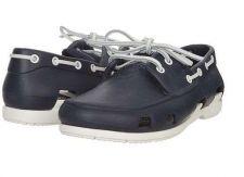 Buy Men's Beach Line Boat Shoe Navy/White sz USA 11