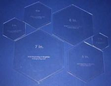 Buy Laser Cut Quilt Templates- 6 Piece Hexagon - Clear Acrylic 1/8""