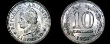 Buy 1957 Argentina 10 Centavo World Coin