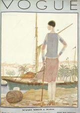 Buy Vogue 1928 Cover Print Quay Boat by Lepape Art Deco 1984 original print