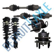 Buy 2 Front CV Axle Shaft A.T. + 2 Wheel Hub Bearing ABS + 2 Ready Strut + 2 Tie Rod