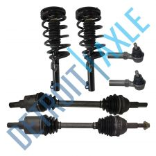 Buy 4 pc Kit - 2 Front Driver and Passenger CV Axle Shaft + 2 Outer Tie Rod