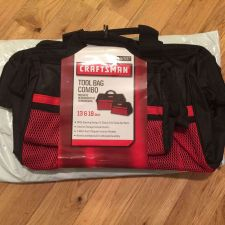 Buy Craftsman Tool Bag Combo (2 bags) -13 & 18 inch - Black/Red / Fast Free Shipping