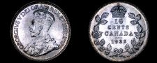 Buy 1932 Canada 10 Cent World Silver Coin - Canada - George V