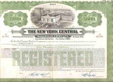 Buy New York New York City Stock Certificate Company: New York Central Railroa~106