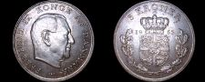Buy 1963 Danish 5 Kroner World Coin -Denmark