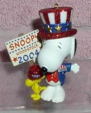 Buy Snoopy dress as Uncle Sam running for president Miniature ornament