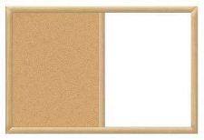 Buy 24 Inchx36 Inch Oak Finish Framed Magnetic Dry Erase Cork Combo Whiteboard Marke