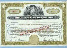 Buy New York na Stock Certificate Company: Phillips-Jones Corporation ~58