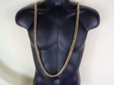 "Buy 18"" - 36"" BIG 10mm solid 18K Gold Layered Cuban Chain Necklace. Life Guarantee."