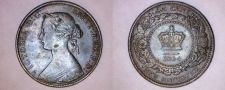 Buy 1864 New Brunswick 1 Large Cent World Coin - Canada
