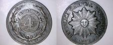 Buy 1869-H 4 Centesimo World Coin - Uruguay