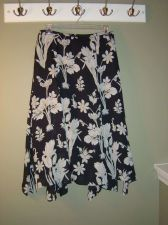 Buy Ann Taylor LOFT Black with Tan and Beige Floral Skirt Women's 4 Knee-Length