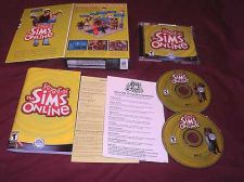 Buy The Sims ONLINE PC DISCS MANUAL INSERTS BOX ART CD CASE & ART VG TO NEAR MINT
