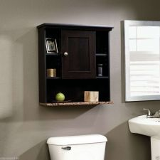 Buy BathRoom Wall Mount Cabinet Cherry Finish Furniture Sauder Wood