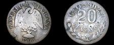 Buy 1900-Cn Q Mexican 20 Centavo World Silver Coin - Mexico