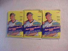 Buy 3 new 2000 FLEER TRADITION baseball HOBBY PACK - sealed
