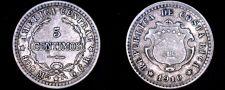 Buy 1910 Costa Rican 5 Centimos World Silver Coin - Costa Rica