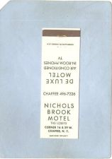 Buy New York Chaffee Matchcover Nichols Brook Motel The Losey's Corner 16 & 39~2358