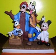 Buy Disneyana Barbershop Quartet Donald Goofy etc Figurine