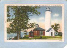 Buy New York Cape Vincent Lighthouse Postcard Tibbets Point Lighthouse Where L~759