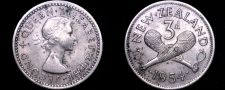 Buy 1954 New Zealand 3 Pence World Coin