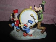 Buy Marching Band Goofy Donald Duck Mickey Walt Disney Productions porcelain fig