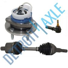 Buy 3 pc Set: Front CV Axle Shaft + Outer Tie Rod + Wheel Hub Bearing w/ ABS