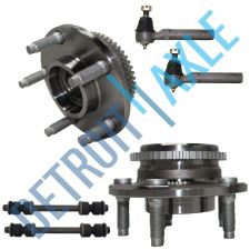 Buy NEW 6 pc Kit- 2 Wheel Hub and Bearing w/ ABS + 2 Outer Tie Rod + 2 Sway Bar Link