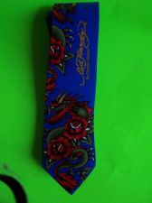 Buy ED HARDY COLORFUL BRIGHT DRAGON FLORAL FLOWER MENS SILK NECK TIE