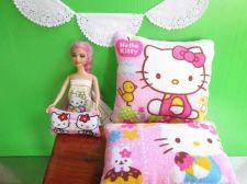 Buy Hello Kitty New Pink Lot of 3 sized Throw Pillow Cushion for American Dollhouse