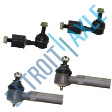 Buy 4 pc Set: NEW Front Stabilizer Bar Link Kit + 2 New Outer Tie Rod End