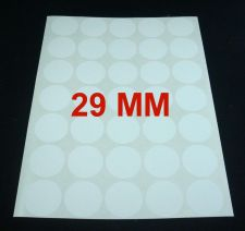 Buy 29MM WHITE ROUND CIRCLE COLOUR LABEL STICKERS 525 LABELS STATIONERY 15 SHEETS