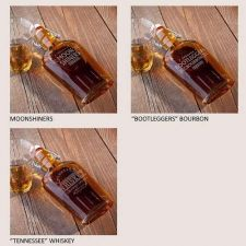Buy Vintage Replica Glass Flasks - 3 Choices - Free Personalization