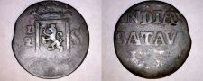 Buy 1820-26 Netherlands East Indies Sumatra 1/2 Stuiver World Coin - Indonesia