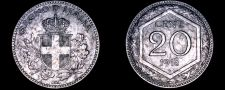 Buy 1918-R Italian 20 Centesimi World Coin - Italy