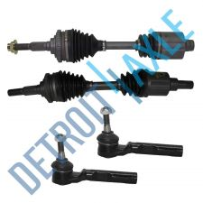 Buy 2 Front (Left & Right) Chevy Drive Axle Shafts 56B+57B + 2 OUTER TIE RODS ES3374