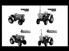 Buy YANMAR YM135 YM155 SERVICE MANUAL - Tractor Workshop Repair YM155D YM135D YM 155