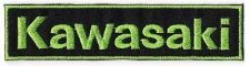 Buy KAWASAKI GREEN BIG BIKER LOGO SIGN, APPLIQUE IRON ON PATCH EMBROIDERED BADGE
