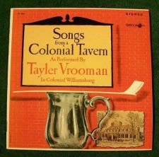 Buy TAYLER VROOMAN ~ Songs From A Colonial Tavern / In Colonial Williamsburg 1964