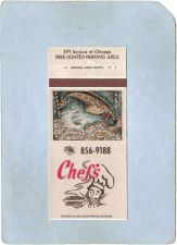 Buy New York Buffalo Matchcover Chef's Restaurant 291 Seneca St w/Map & Info I~2490