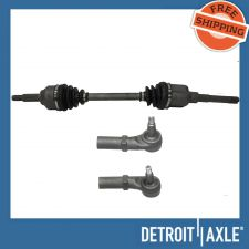 Buy 3 pc Kit - Front Driver Side CV Axle Drive Shaft w/o ABS + 2 Outer Tie Rod Ends